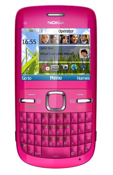 Nokia-c3-pink